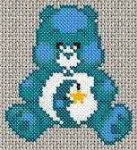 19/11/2012 : Grille de point de croix gratuite - Bisounours Bleu - un jour, une grille