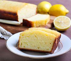 Simple low carb yoghurt lemon cake - recipe without sugar - Yummy - Deutch Rezepte Lemon Desserts, Lemon Recipes, Low Carb Desserts, Raw Food Recipes, Low Carb Recipes, Cake Recipes, Bread Recipes, Cake Recipe Without Sugar, Lemon Bread