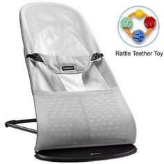 NEW BabyBjorn Bouncer Balance Soft Silver and White Mesh Baby Bouncer Baby Bjorn, Fisher Price, Best Baby Bouncer, Diaper Bag, Baby Rocker, Bouncers, Baby List, Baby Essentials, Compact