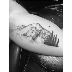 Image result for trees with mountains stipple tattoo