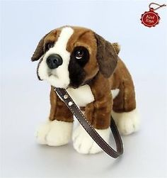 KEEL TOYS - STANDING BOXER ON LEAD 30CM - PLUSH DOG CUDDLY TOY PUPPY - NEW