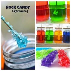 A beautiful Science experiment & a yummy treat all in one. My kids loved checking on their jars each day to see if the rock candy had grown!