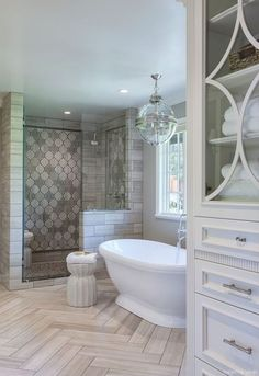 67 Incredible Modern Farmhouse Bathroom Tile Ideas 23