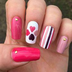 Geometric Nail Art, Cool Nail Designs, Cool Nail Art, Nail Trends, Press On Nails, Polish, Art Ideas, Instagram, Work Nails