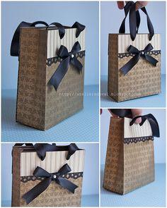"""reciclagem de caixa de cereais - decoração do """"saco"""""""
