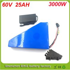 Free customs taxe triangle lithium battery 60V 25Ah electric bike battery 60V 3000W electric scooter battery with Panasonic Cell