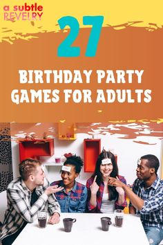 Birthday party games for adults are mood booster and make the birthday more exciting. If you want to add some silliness to your birthday party, then these birthday party games for adults are for you. They're hilarious and fun and will have everyone laughing out loud! Check out this pin for interesting ideas on how to make your birthday unforgettable!  #birthdayparty #adultgames #birthdaygames #birthday #fungames #partygames 27th Birthday, Birthday Songs, Adult Birthday Party, Birthday Party Games, Adult Party Games, Adult Games, Fun Games, Funny Would You Rather, Mouth Game