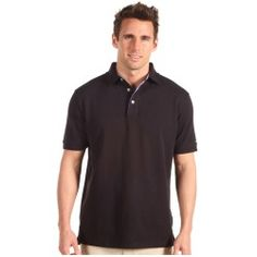 Tommy Hilfiger Golf - Basic Pique Knit Polo - Regular Fit (Black) - Apparel - product - Product Review