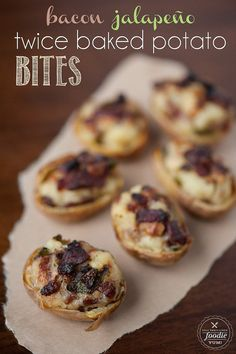 Bacon Jalapeño Twice Baked Potato Bites | #entertaining #appetizer #Superbowl #Patriots #Seahawks #Gameday #Recipes #Football #Tailgating #confessionsofcraftywitches