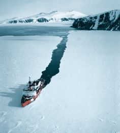 An ice breaker ship is used in extremely cold regions helping other ships to ply in the region by breaking thick layers of ice formed on the surface of water. Marine Engineering, Merchant Marine, Us Coast Guard, War Photography, Tug Boats, Ice Breakers, Sea And Ocean, Water Crafts, Photos