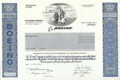 Boeing Stock Certificate