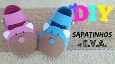 Sapatinhos de EVA | Como fazer sapatinhos de EVA pra chá de bebê [passo ...