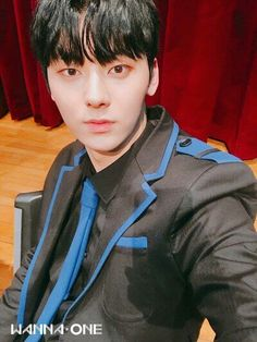 [180131] Minhyun @ Fancafe Wanna One (Nothing without you) Fansign Selca Time Update