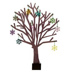 Buy Design Ideas Black Sherwood Tree, Small from our All Decorations range at John Lewis & Partners. Christmas Colors, Christmas Crafts, Wooden Snowflakes, Christmas Crackers, Design Trends, Design Ideas, Merry And Bright, Tree Decorations, Ornaments