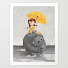 And It Poured Art Print by Greg Abbott - $18.00