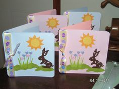 Easter Cards - Walk in My Garden, Camp Out, Wild Card cartridges