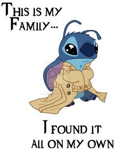 Stitch as Castiel