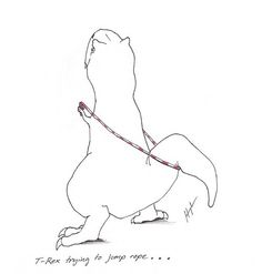 T-Rex trying to jump rope. (one of many adorable and funny drawings in the T-Rex trying. series) a bit of a character T Rex Humor, T Rex Cartoon, Godzilla, Crossfit Humor, Crossfit Motivation, Crossfit Baby, Crossfit Inspiration, Dinosaur Funny, Dinosaur Crafts