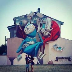 @streetartmanifesto do yOu knoW? by @zed1_marco in San Gavino Monreale #contemporaryartcurator #streetart #urbanart #painting #illustration #streetartist #art #artist #graffiti #stencil
