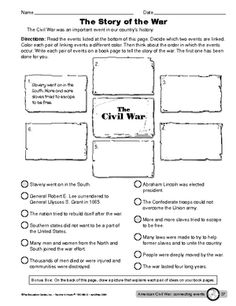 Printables Causes Of The Civil War Worksheet worksheet key events of the american civil war middle school war