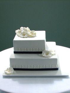 Greek and English wedding cake by cakeladycakes, via Flickr