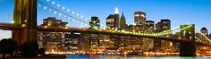 We love the view of Manhattan's skyline from the Brooklyn Bridge. What are your New York must-sees? Brooklyn Bridge, Ponte Do Brooklyn, Manhattan Bridge, Romantic Honeymoon Destinations, Holiday Destinations, Honeymoon Ideas, Vacation Destinations, Top 10 Vacation Spots, Vacation Ideas