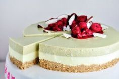 My Recipes, Sweet Recipes, Healthy Recipes, Raw Cake, Mini Cheesecakes, Matcha, Deserts, Good Food, Food And Drink