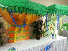 monkey/jungle 1st birthday party