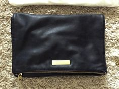 Fashion Tipsy: Black and gold clutch