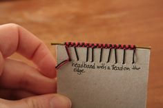 Headband with a bead on the edge - bookbinding #tutorial