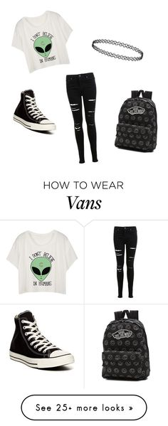 """Untitled #68"" by mystyle1234 on Polyvore featuring Miss Selfridge, Converse and Vans"