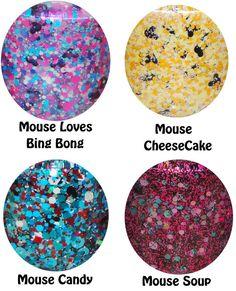 Mouse CheeseCake Nail Polish Indie Glitter by GlitterLambsPolish
