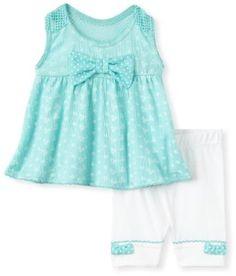 Little Lass Baby-girls Newborn 2 Piece Eyelet Tank Short Set --- http://bizz.mx/kss
