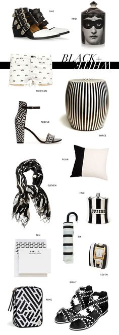 Trend // Black & White @Hudson+Bleecker Labyrinth Onyx Avion Cosmetic Case featured on @megbiram