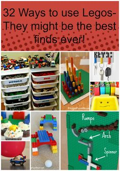 32 Ways to use Legos - they might be the best finds ever pin