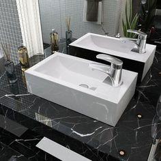 VidaXL Keramik Aufsatz Waschbecken Mit Hahnloch Waschtisch Weiß 46x25,5x12  Cm