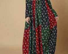 Loose Fitting Linen Long Shirt Dress In linen color от MaLieb