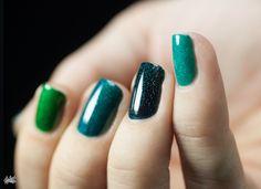 Teal nail polish green