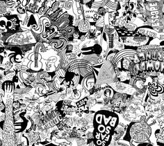 Doodle table - Design to be screen printed on to a table top. Produced by Gallery of wonderful