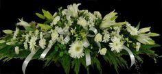 Sympathy Flowers   Funeral Casket Spray Calla Lily Flowers, Mason Jar Flowers, Flowers In Hair, Wedding Flowers, Funeral Floral Arrangements, Flower Arrangements, Funeral Flowers, Casket Flowers, Funeral Caskets