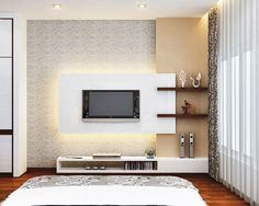 tv unit besides a column Tv Cabinet Design, Tv Wall Design, Ceiling Design, Bed Design, Lcd Units, Tv Unit Decor, Tv Unit Furniture, Modern Tv Wall Units, Living Room Tv Unit Designs