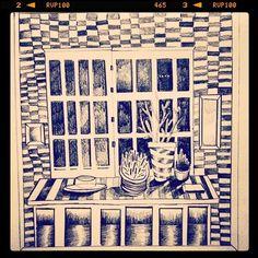 Home #ilustracja #Illo #illustration #sketchbook #sketch #sad #draw #drawing #Black #karolbanach #pattern #pencil