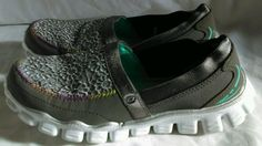 Skechers Light Weight Slip ons 2 med girls Silver Metallic Lace Multi-color  #Skechers #CasualShoes #Everyday