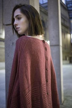 Ravelry: Gotham pattern by Norah Gaughan Poncho is the new shawl.  With the buttons, this is part cardigan.  :)