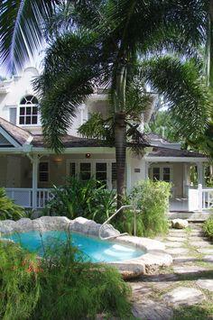 Luxury Cottage Plunge Pool ~ Coral Reef Club in Barbados