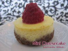 Mini-cheesecake et son coulis de fruits rouges