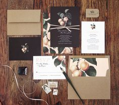 Invitation Trend: 18 Moody Black Invitation Suites for Modern Couples!
