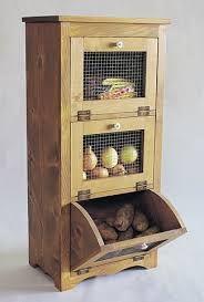 Want :/ Woodworking Paper Plans Potato Storage Vegetable Bin Teds Woodworking, Woodworking Projects, Woodworking Techniques, Popular Woodworking, Woodworking Videos, Woodworking Furniture, Vegetable Bin, Vegetable Drawer, Cocina Diy