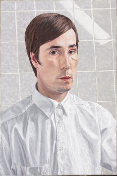 Losonczy István (Budapest, 1967): Látlelet (2002, olaj, gyanta, vászon, 60x45 cm)