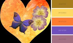 Butterfly in love - colour palette by ButterfliesByRoxana